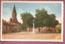 Cp Marssac La Place Et L'eglise  - éditeur Apa Poux - Autres Communes