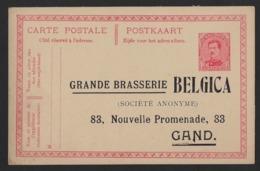 POSTKAART * GRANDE BRASSERIE BELGICA * NOUVELLE PROMENADE GAND * NIEUWE WANDELING GENT * - Gent