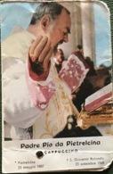 PADRE PIO Da PIETRELCINA  - Santino  Libretto Con RELIQUIA Veste ; - Religione & Esoterismo