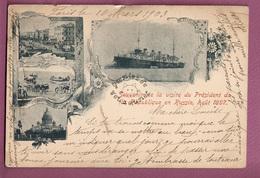 Cpa Souvenir De La Visite Du President De La Republique En Russie, Aout 1897 - Evenementen