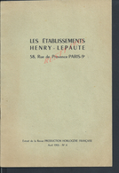 TRÉS RARE TYPE REVUE DE 11 PAGES PUBLICITAIRE LES ÉTABLISSENTS HENRY LEPAUTE HORLOGERIE FRANÇAISE 1955 : - Livres, BD, Revues