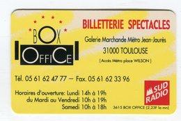 CdV °_ Billetterie-31-Toulouse-Sud Radio-Box Office-plastique - Visitenkarten