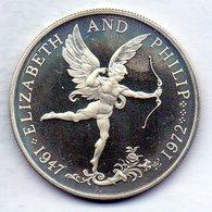 GUERNSEY, 25 Pence, Silver, Year 1972, KM #26a - Guernsey