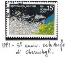 URSS - SG 6221- 1991 CHERNOBYL NUCLEAR POWER STATION DISASTER ANNIVERSARY  - USED- RIF.CP - Usati