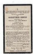 DP AUGUSTINUS VONCKX,geboren Booischot 1870,wedn. V REGINA VAN DEN BROECK,echtg. V JOANNA CLAES,gestorven 1921 - Religion & Esotérisme