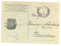 JUDAICA ISIDOR ELLENBOGENYEAR 1933 FISH FRUITS VEGETABLES - Serbie