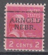 USA Precancel Vorausentwertung Preo, Locals Nebraska, Arnold 701 - Vereinigte Staaten