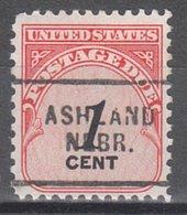 USA Precancel Vorausentwertung Preo, Locals Nebraska, Ashland 703 - Vereinigte Staaten