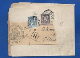 Lettre Avec Timbre Type Sage à 15 + 25    Oblitération:St Claude  S/Bienne 27 Janv 1899 - Marcofilia (sobres)