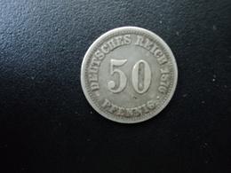 ALLEMAGNE : 50 PFENNIG   1876 A     KM 6      TTB - [ 2] 1871-1918: Deutsches Kaiserreich