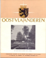 Brochure  Toerisme Tijdschrift - Oost Vlaanderen - Artikels Oa Lokeren, Kruibeke, Gent, Juul Keppens  - 1955 - Toeristische Brochures