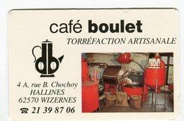 CdV °_ Torréfacteur-62-Wizernes-Café Boulet - Cartes De Visite