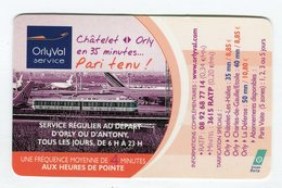 CdV °_ Transport-Orlyval-d'Orly à Paris - Cartoncini Da Visita