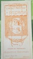 B3478 - Palermo Circolo Artistico, Depliant Del Concerto Di Alexandre Barjansky 1920 - Programas