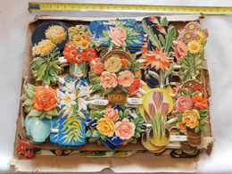 Decoupis Fleurs Le Prix Pour 1 Feuille Boite N°11 No Delcampe Pay - Flowers