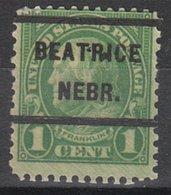 USA Precancel Vorausentwertung Preo, Locals Nebraska, Beatrice 632-232 - Vereinigte Staaten