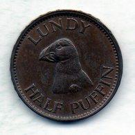 BRITISH ISLANDS - LUNDY, 1/2 Puffin, Copper, Year 1929 - Altri