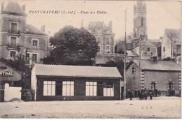 FRANCE        CARTE POSTALE DE  PONTCHATEAU  PLACE DES HALLES - Pontchâteau