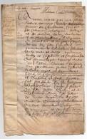 A Déchiffrer Acte Parchemin Manuscrit 1653-17ème Siècle Charles D'Escoubleau Descoubleau Prince De Chabanois 6 Pages - Manuscripts
