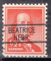 USA Precancel Vorausentwertung Preo, Locals Nebraska, Beatrice 812 - Vereinigte Staaten