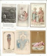 JC , Image Pieuse ,religieuse , 2 Scans ,  LOT DE 6 IMAGES RELIGIEUSES - Andachtsbilder