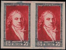 FRANCE   ** 895 Paire D'essais Bicolores: Talleyrand - Essais