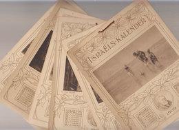 RARE     Israels-kalender  1909 - Calendriers