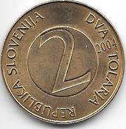 Slovenia  2 Tolarjev  2004 Km 5  Unc - Slovenia