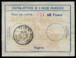 ALGÉRIE  Reply Coupon / Coupon Réponse Régime Français - Algérie (1962-...)