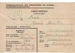 PRISONNIER DE GUERRE 40 45 ALLEMAND EN BELGIQUE CAMP LAGER CH1 VERS GELSENKIRCHEN CENSURE MILITAIRE 570 - Militaria