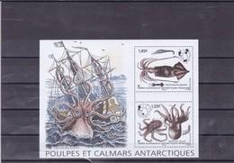 TAAF : Poulpes Et Calmars En Terre Adélie : Y&T : BF ** - Hojas Bloque