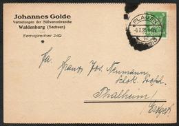 D2704 - Waldenburg Johannes Golde Süßwaren Zucker Firmenpost Bedarfspost - Deutschland
