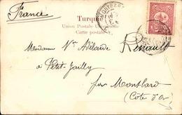 TURQUIE / LIBAN - Affranchissement Plaisant Turque Sur CP De Sofar Pour La France - L 51019 - 1858-1921 Imperio Otomano