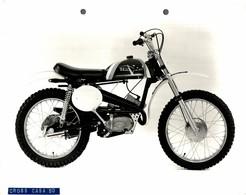 "Italjet Cross Casa 50 +-23cm X 17cm "" Perforada "" Moto MOTOCROSS MOTORCYCLE Douglas J Jackson Archive Of Motorcycles - Andere"