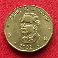 Dominicana 1 Peso 2002 KM# 80.2 Dominican Republic - Dominikanische Rep.