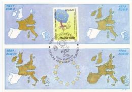 TORINO MANIFESTAZIONE FILATELICA    1989 MAXIMUM POST CARD (GENN200431) - Esposizioni Filateliche