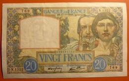 20 Francs Science Et Travail 17.10.1940 - 1871-1952 Antichi Franchi Circolanti Nel XX Secolo