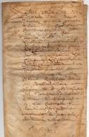 A Déchiffrer Acte Parchemin Manuscrit 1665-17ème Siècle Seigneurie D'Augouville Normandie 7 Pages - Manuscripten