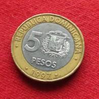 Dominicana 5 Pesos 1997 KM# 88  *V1 Dominican Republic - Dominikanische Rep.