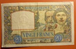 20 Francs Science Et Travail 8.05.1941 - 1871-1952 Antichi Franchi Circolanti Nel XX Secolo