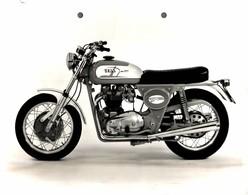 "Italjet Grifon 650cc +-23cm X 17cm "" Perforada "" Moto MOTOCROSS MOTORCYCLE Douglas J Jackson Archive Of Motorcycles - Andere"