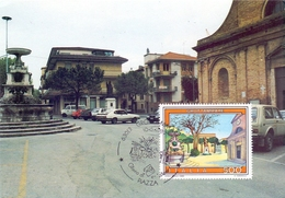 STATUA  GROTTAMMARE PIAZZA S. PIO     1989 MAXIMUM POST CARD (GENN200433) - Monumenti