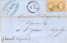 G.C.3140 RILLE (38)+cachet 22,L.S.C. Du 4/2/69 Sur Paire N°28 A. - Marcophilie (Lettres)