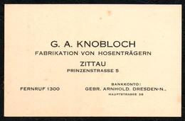 D2711 - Zittau Knobloch Hosenträger Visitenkarte - Cartoncini Da Visita
