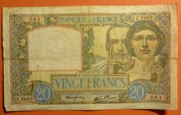 20 Francs Science Et Travail  20.2.1941 - 1871-1952 Antichi Franchi Circolanti Nel XX Secolo