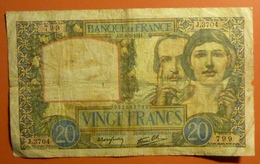 20 Francs Science Et Travail  8.5.1941 - 1871-1952 Antichi Franchi Circolanti Nel XX Secolo