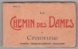 02 AISNE WW1 - CARNET CE 20 CP LE CHEMIN DES DAMES ET CRAONNE - HURTEBISE - PLATEAU DE CALIFORNIE - BERRY AU BAC - Craonne