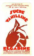 SACHET PUBLICITAIRE SUCRE VANILLINE ELGADINE - MARSEILLE - Advertising
