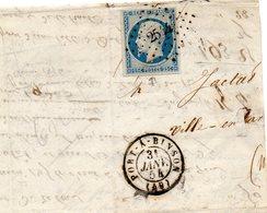 N°10-p.c.254 PORT A BINSON (49),partie De Corresp. Du 3/1/56. - Postmark Collection (Covers)