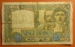 20 Francs Science Et Travail  17.10.1940 - 20 F 1939-1942 ''Science Et Travail''
